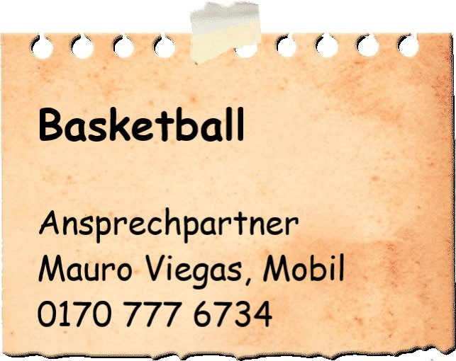 Notizzettel Basketball