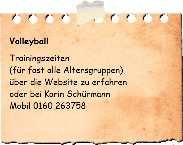 Notizzettel Volleyball